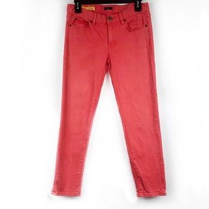 J Crew Factory Toothpick Stretch Coral Jeans